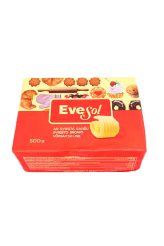 Margarinas kepimui  su sviestu  EVESOL, 500g