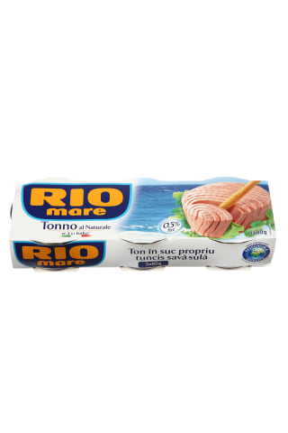 Tuno pjausnys sūryme RIO MARE, 3 vnt × 80 g