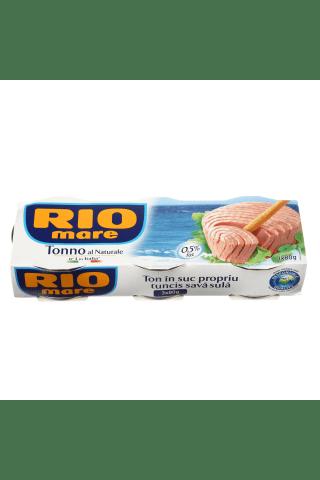 Tuncis Rio mare savā sulā 80g1x3