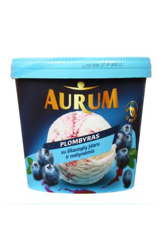 Vanilės skonio plombyras su šilauogių įdaru AURUM, 800 ml