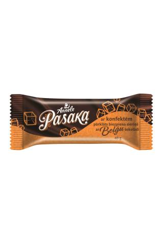 """Ar beļ u šokolādi pārklāts biezpiena sieriņš ar konfektēm """"Annele"""", 19,8% t.s. (biezpiena masas tauku saturs 18%), 40 g"""