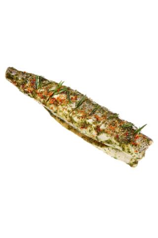 Atitirpintos marinuotos argentininės jūrinės lydekos su česnakiniu marinatu,skrostos,be galvų, be uodegų (Merluccius hubbsi), 1kg, (500 g)