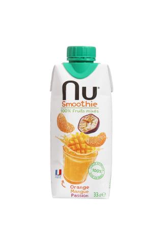 Apelsinų, mangų, pasiflorų kokteilis NU, 330 ml
