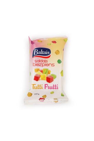 Saldais biezpiens Baltais Tuttifrutti 100g