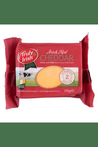 Airiškas raudonasis čederio sūris truly irish, 50 % riebumo sausoje medžiagoje, 200 g