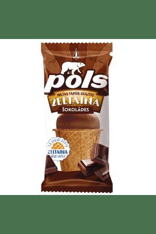 Saldējums Pols šokolādes plombīrs zeltainā vafeļu glāzītē 120ml