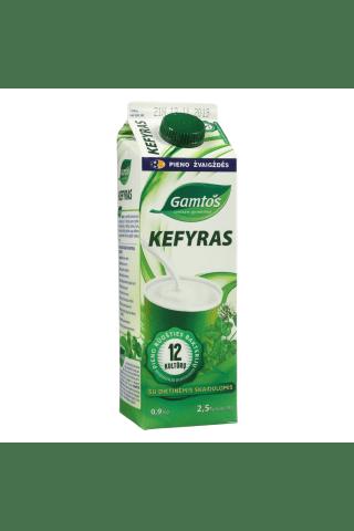 Kefyras su 12 bakterijų ir dietinėmis skaidulomis GAMTOS, 2,5 % rieb., 0,9 kg