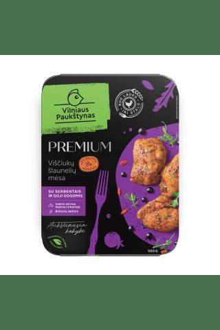 Marinuota viščiukų šlaunelių mėsa su Goji uogomis  PREMIUM, 500g